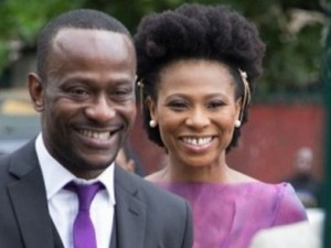 Nollywood Ace Actress, Nse Etim-Ikpe and new husband, UK based professor, Clifford Sule. The actress got married on Feb. 13, 2013