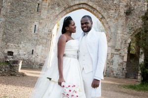 Stephanie Okereke and Linus Idahosa's fairytale wedding which took place on the 21st of April 2012 at the Abbaye des Vaux de Cernay located in the Chevreuse valley in the Rambouillet state-owned forest, just outside Paris, France.