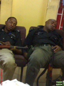 Two dedicated officers of the Napping Police Force (NPF)